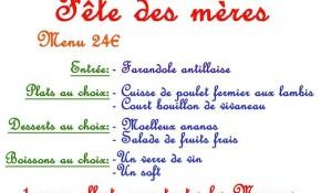 Fête des mères au restaurant La Créole Montparnasse