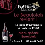 Beaujolais Nouveau au Barock's !