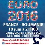 L'Euro 2016 u Barock's ! France-Roumanie le Vendredi 10 juin