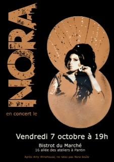 Nora en concert au Bistrot