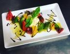 Photo Burratina maison Ambrosi, déclinaison de tomates de collection et gelée de tomates - La Salle à Manger