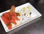 Photo Saumon gravlax, pesto à l'aneth, tuile de sésame et quenelle de fromage blanc - La Salle à Manger