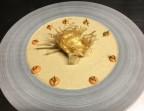 Photo Œuf poché et sa crème de foie gras, émulsion aux figues - La Salle à Manger