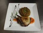 Photo secreto de cochon, sauce moutarde, caviar d'aubergines - La Salle à Manger