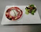 Photo Oeuf parfait et cassolette de betterave et parmesan - La Salle à Manger