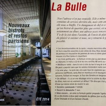 Infrarouge, Nouveaux bistrots et restos parisiens, Eté 2014