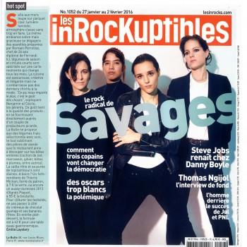 """Les Inrockuptibles du 27-01 au 02-02-16 """"Hot spot : La Bulle""""  par Emilie Laystary"""