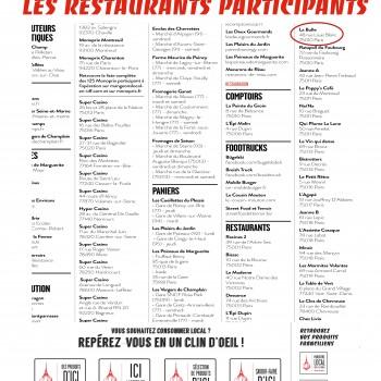 La bulle participe aux Semaines du Mangeons Local Paris Ile-de-France à partir du 05/09/16