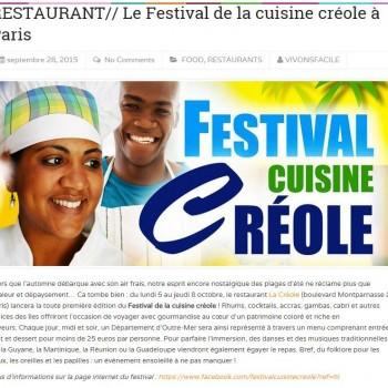 Le Festival de la cuisine créole à Paris