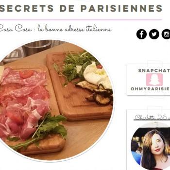 Casa Cosa sur Secrets de Parisiennes