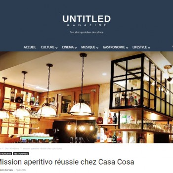 Casa Cosa sur Untitled Magazine