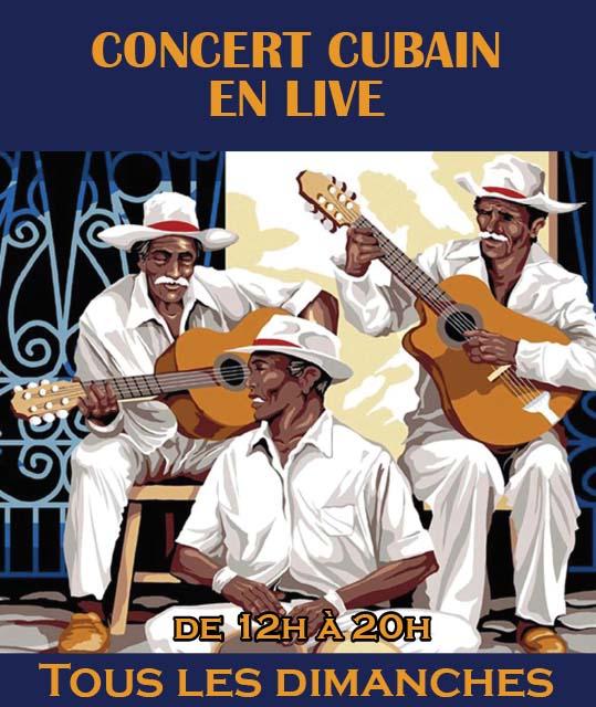 #Brunch et #concert cubain en live