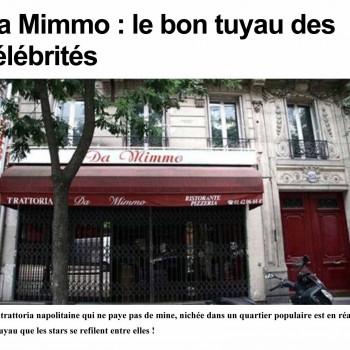 Da Mimmo, le bon tuyau des célébrités