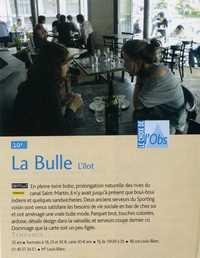 Le Nouvel Observateur juin 2008, Les 400 lieux branchés de Paris, Le choix de l'Obs