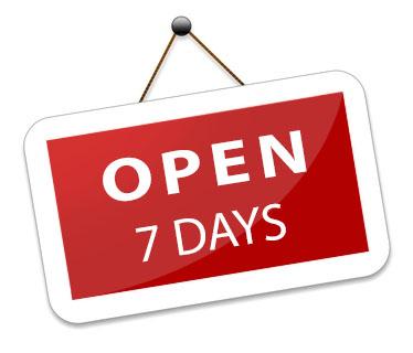 Ouvert tous les soirs 7 jours sur 7