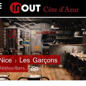 Article élogieux dans le magazine INOUT Côte d'Azur
