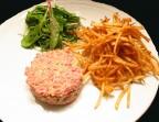 Photo Tartare de bœuf Charolais et  pommes allumettes maison - Bistrot Gourmand