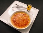 Photo Ou, Crème brûlée à l'orange et shooter au Grand Marnier - Bistrot Gourmand