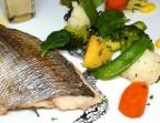 Photo Filet de poisson sauce vin blanc et légumes du moment - Bistrot Gourmand