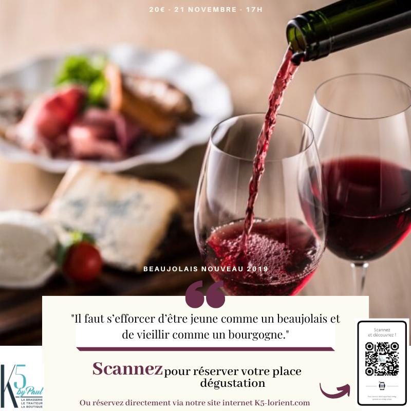 Soirée dégustation Beaujolais nouveau 2019