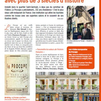 Le Procope, un restaurant-musée avec plus de 3 siècles d'histoire