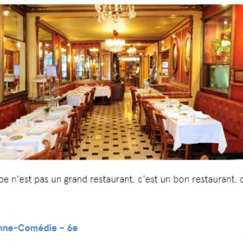 6 RESTAURANTS ABSOLUMENT MYTHIQUES À PARIS
