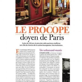 Le Procope, Doyen de Paris