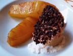 Photo Ananas caramélisé, tuile grué cacao et glace au caramel - Le Bistrot Quai