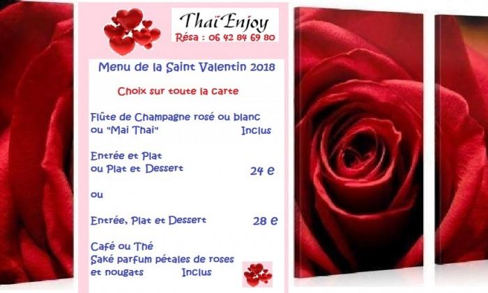 Votre Saint Valentin chez Thai Enjoy
