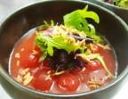 Photo Billes de pastèque marinées menthe, miel-gingembre - LE DOMAINE DU SEUDRE