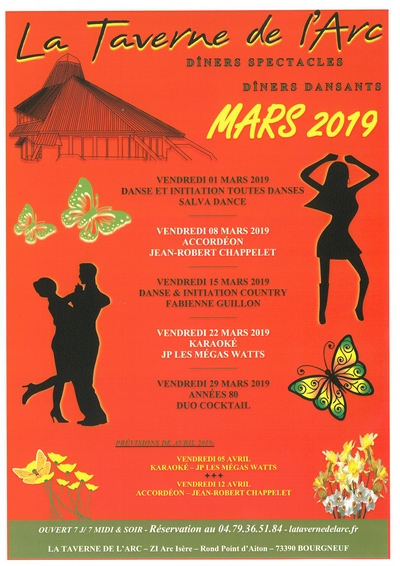 NOS SOIRÉES A THÈME DE MARS 2019
