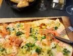 Photo Flammeküeche aux saumons - La Taverne de Metz