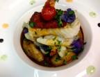 Photo Dos de cabillaud en croûte de soubressade - Restaurant la Gauloise