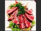 Photo Salade de mi-cuit de thon au sésame - Restaurant la Gauloise