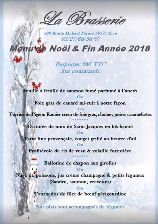 menu emporter fin année 2018