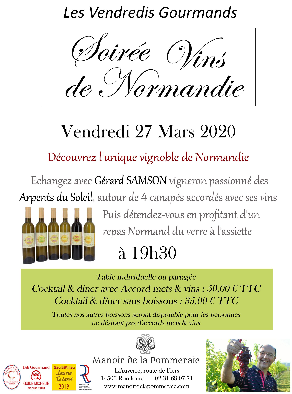 Soirée Vin de Normandie
