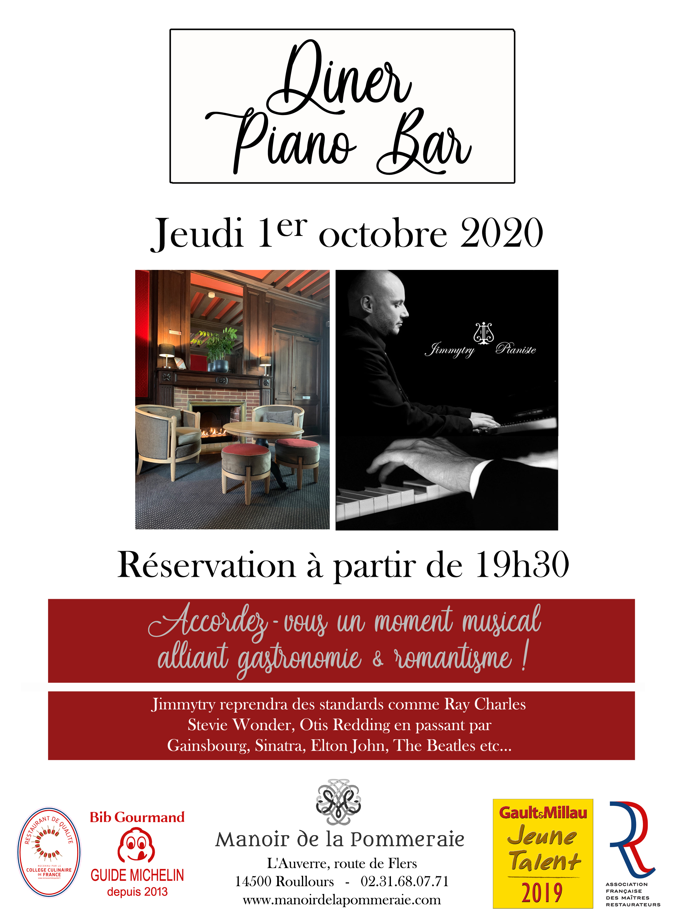 Diner Piano Bar 1 octobre