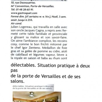 Les bonnes tables Pudlo Paris 2015