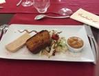 Photo Foie gras de canard maison de l'Aveyron, cake à la carotte - Le Bistrot d'Alex