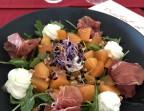Photo Salade de melon, jambon Serrano, pignons torréfiés  - Le Bistrot d'Alex