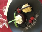 Photo Délice choco caramel du Bistrot, sorbet ananas - Le Bistrot d'Alex