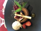 Photo Tarte gourmande amandine figue, glace pistache - Le Bistrot d'Alex