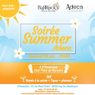 Soirée Summer Adeca & Barock's à l'Oratorium