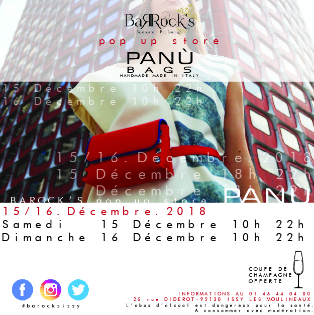 Pop Up Store au Barock's avec Panù Bags