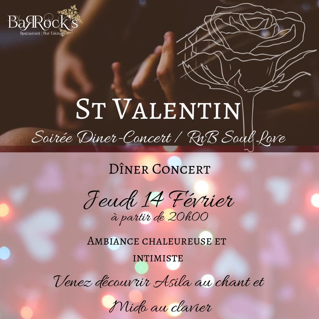 Diner concert spécial Saint-Valentin
