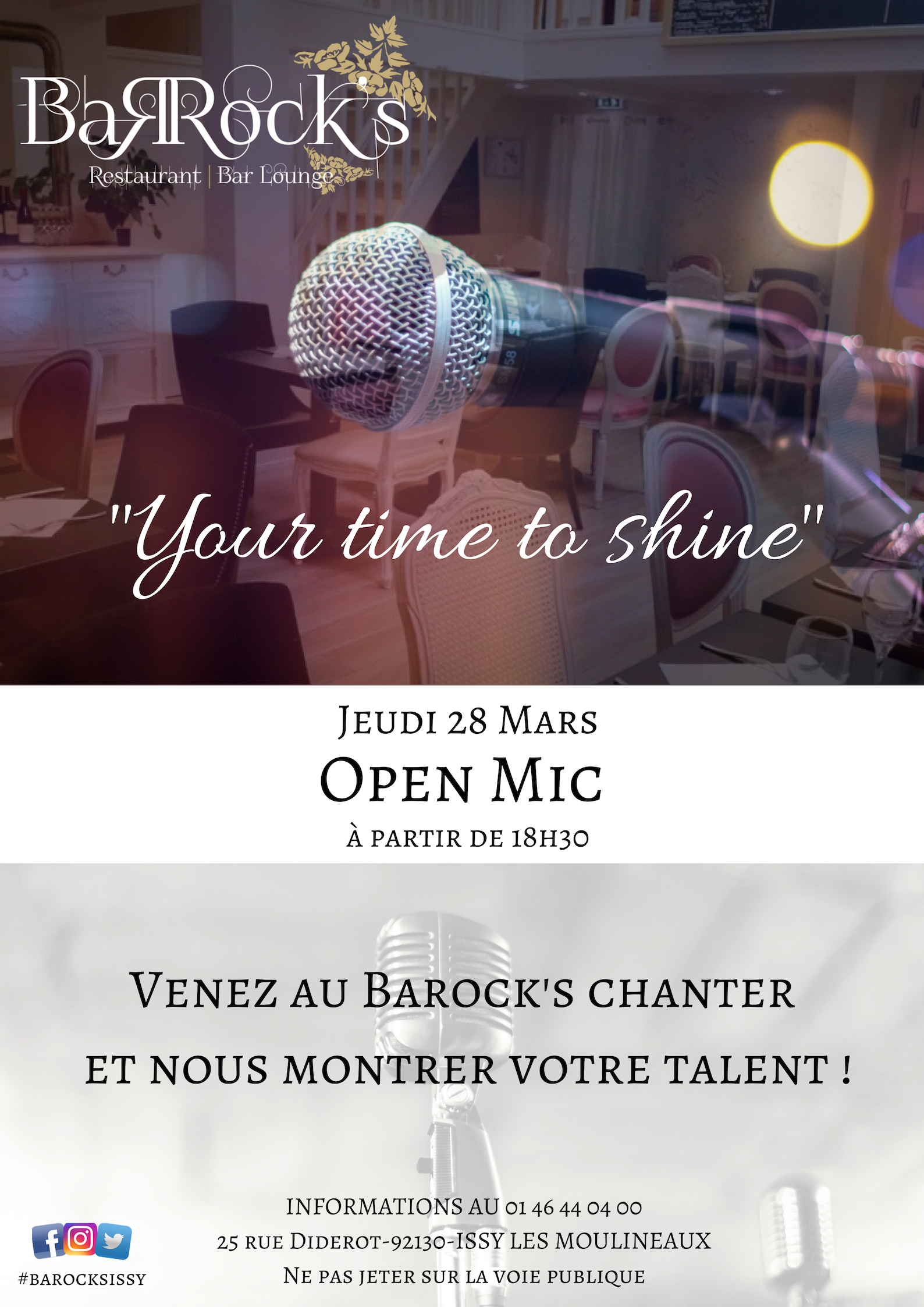 New : Open Mic au Barock's