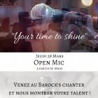 New : Open Mic au Barock's