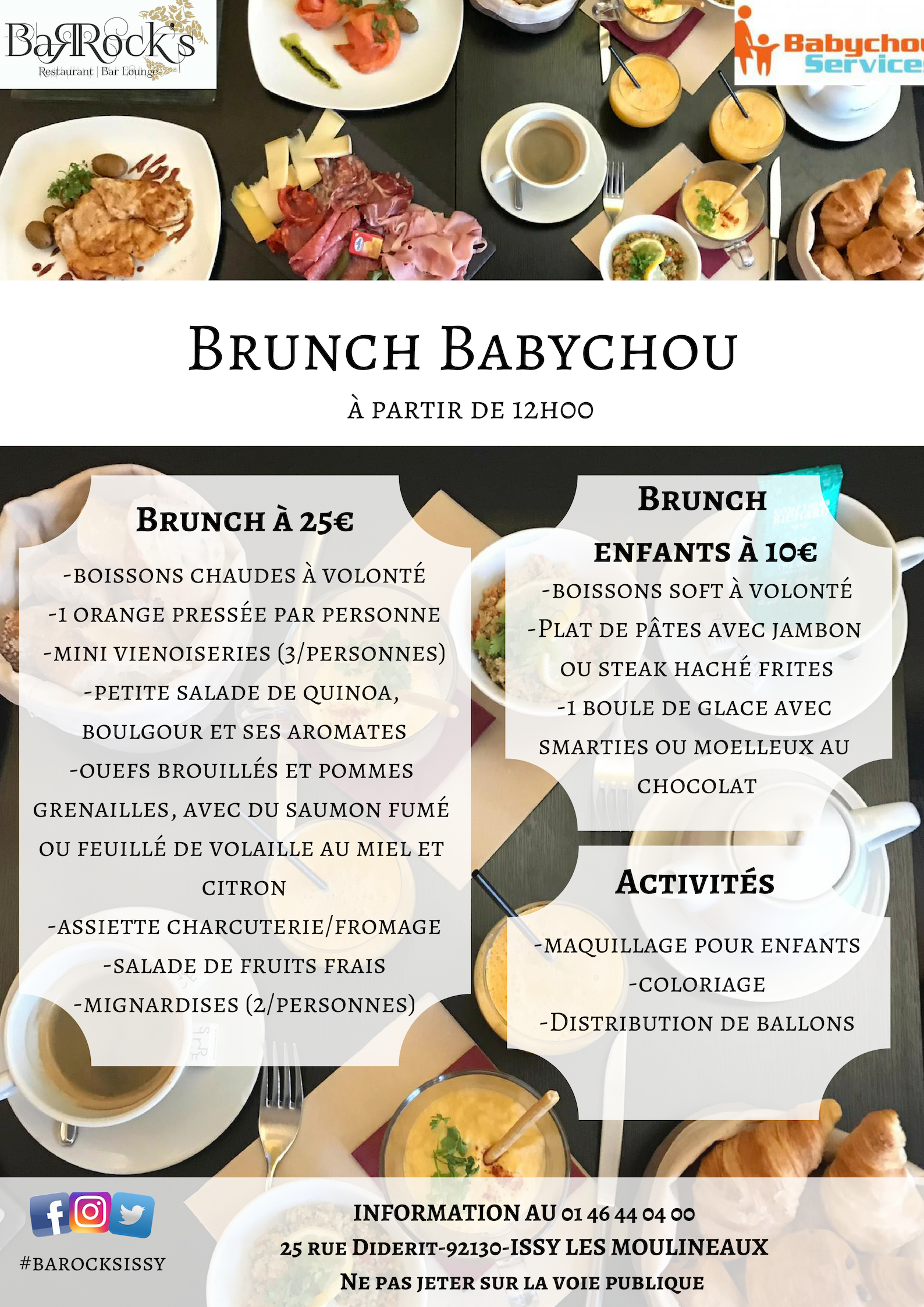 Brunch Babychou au Barock's