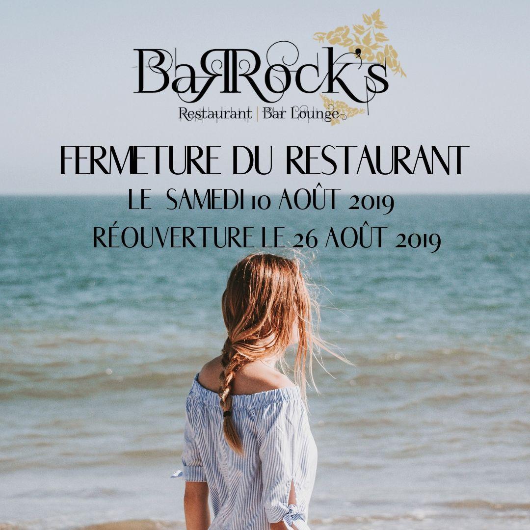 Fermeture du Barock's