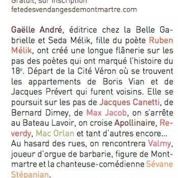 Le prétexte partenaire de la fête des vendanges de Montmartre 2014